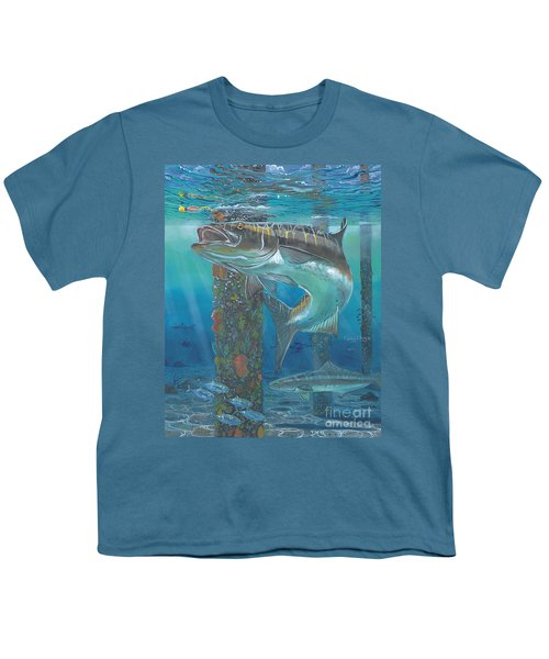 Cobia Strike In0024 Youth T-Shirt by Carey Chen