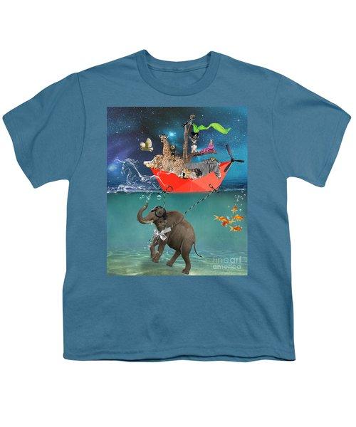 Floating Zoo Youth T-Shirt by Juli Scalzi