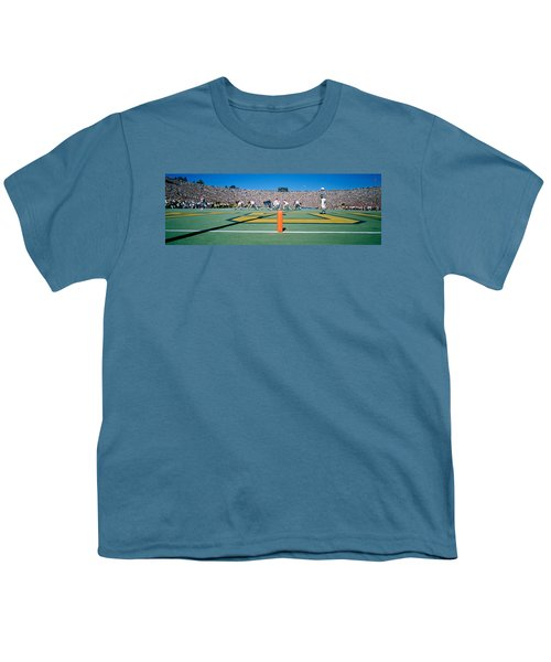 Football Game, University Of Michigan Youth T-Shirt by Panoramic Images