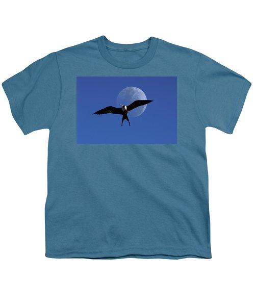 Frigatebird Moon Youth T-Shirt by Jerry McElroy