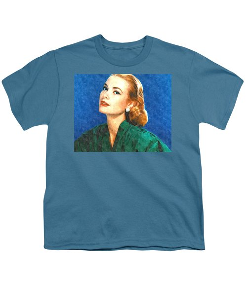 Grace Kelly Painting Youth T-Shirt by Gianfranco Weiss