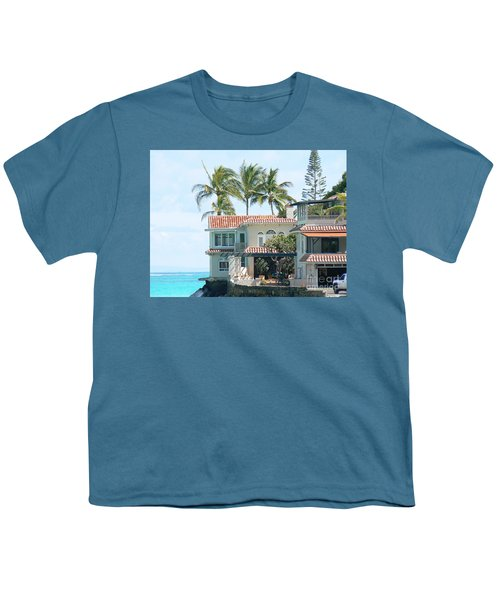 House At Land's End Youth T-Shirt by Dona  Dugay