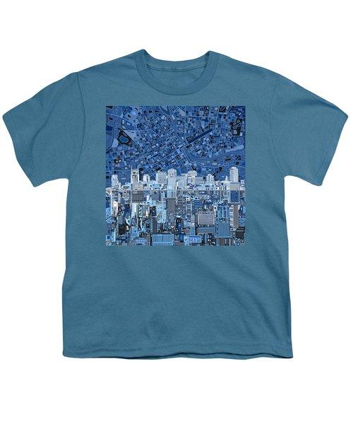 Nashville Skyline Abstract Youth T-Shirt by Bekim Art