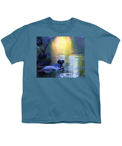 Otter Family Youth T-Shirt by Dan Sproul