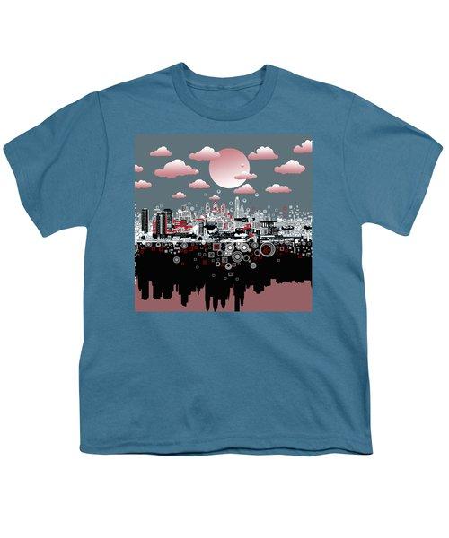 Philadelphia Skyline Abstract 6 Youth T-Shirt by Bekim Art