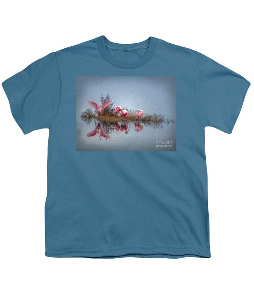 Roseate Spoonbills At Rest Youth T-Shirt by Lianne Schneider
