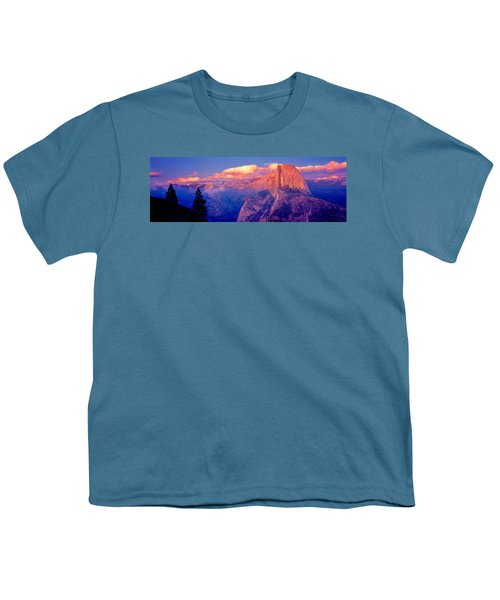 Sunlight Falling On A Mountain, Half Youth T-Shirt by Panoramic Images