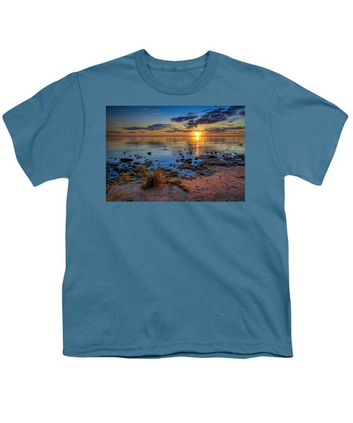Sunrise Over Lake Michigan Youth T-Shirt by Scott Norris