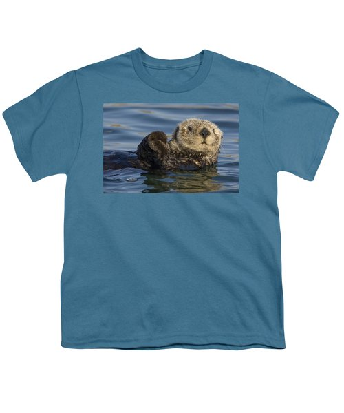 Sea Otter Monterey Bay California Youth T-Shirt by Suzi Eszterhas
