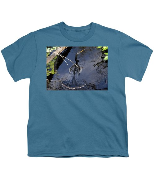 Swimming Bird Youth T-Shirt by David Lee Thompson