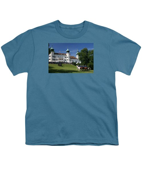 Youth T-Shirt featuring the photograph Artstetten Castle In June by Travel Pics