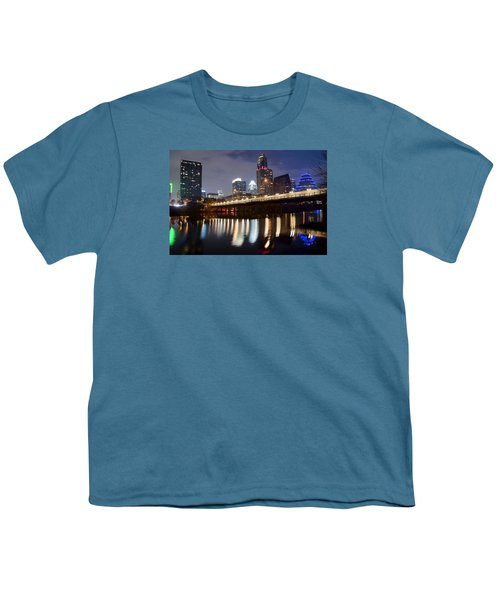 Austin From Below Youth T-Shirt by Frozen in Time Fine Art Photography