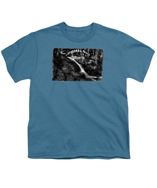 Cathedral Falls From The Tioga Pass Road Youth T-Shirt by Roger Passman