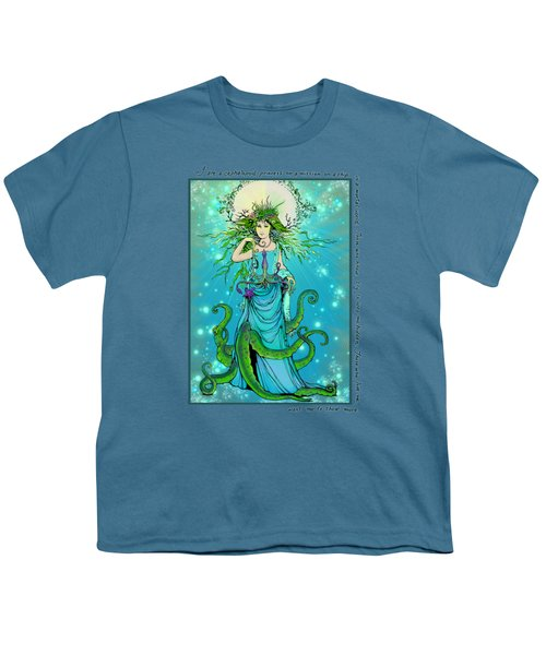 Cephalopod Princess Youth T-Shirt by Katherine Nutt