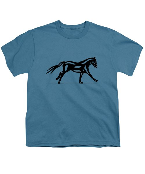 Clementine - Abstract Horse Youth T-Shirt by Manuel Sueess