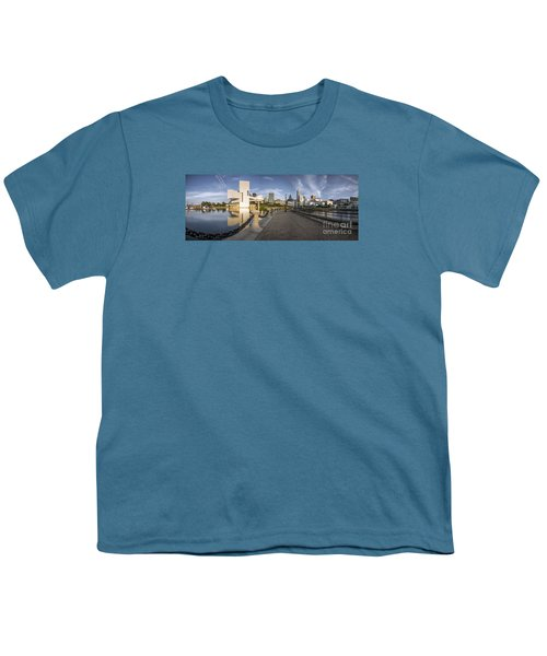 Cleveland Panorama Youth T-Shirt by James Dean