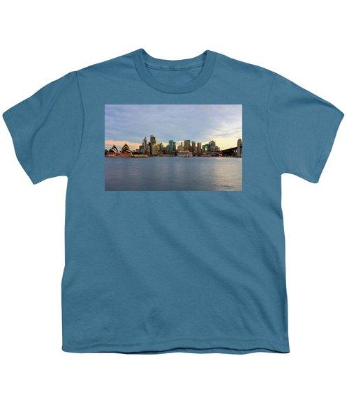 Cruiseship Sunset Youth T-Shirt by Petar Belobrajdic