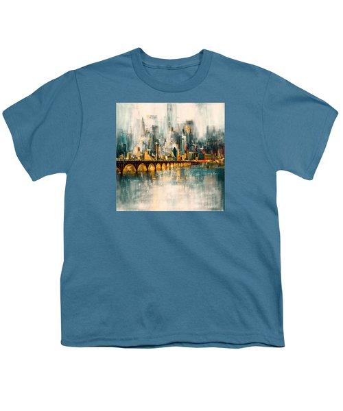 Dallas Skyline 217 3 Youth T-Shirt by Mawra Tahreem