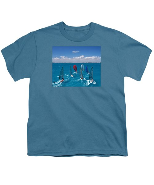 Downwind To Miami Youth T-Shirt by Steven Lapkin