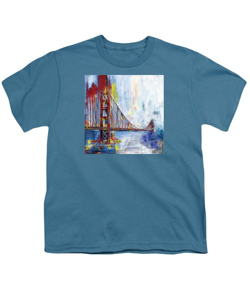Golden Gate Bridge 218 1  Youth T-Shirt by Mawra Tahreem