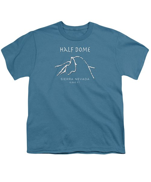 Half Dome Youth T-Shirt by Fran Riley