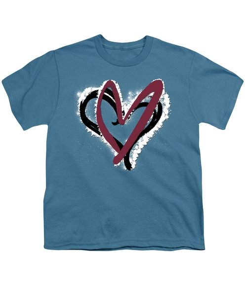 Hearts Graphic 6 Youth T-Shirt by Melissa Smith