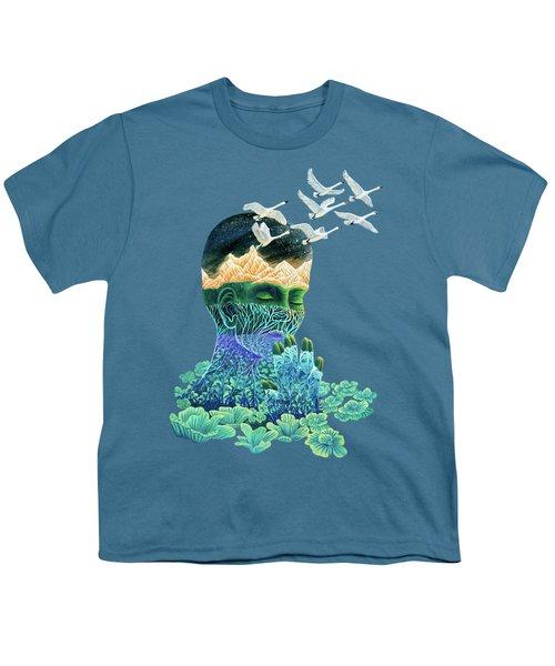 Meditation Youth T-Shirt by Ruta Dumalakaite