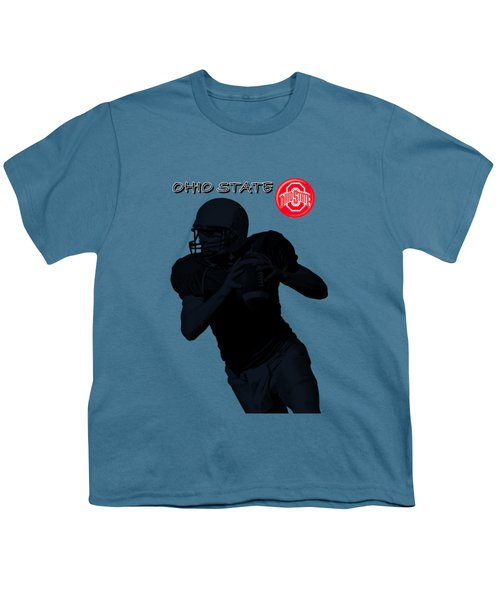 Ohio State Football Youth T-Shirt by David Dehner