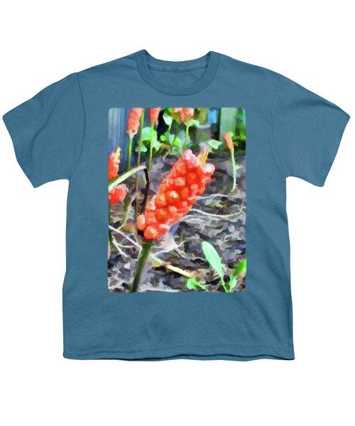 Orange Things In The Corner Youth T-Shirt by Jackie VanO