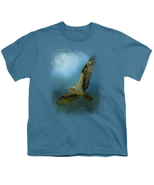 Osprey In The Evening Light Youth T-Shirt by Jai Johnson