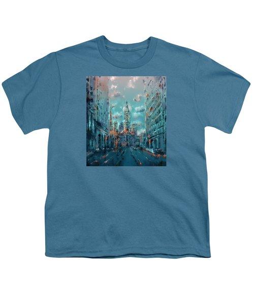 Philadelphia Street Youth T-Shirt by Bekim Art