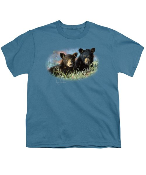 Playmates Youth T-Shirt by Lucie Bilodeau