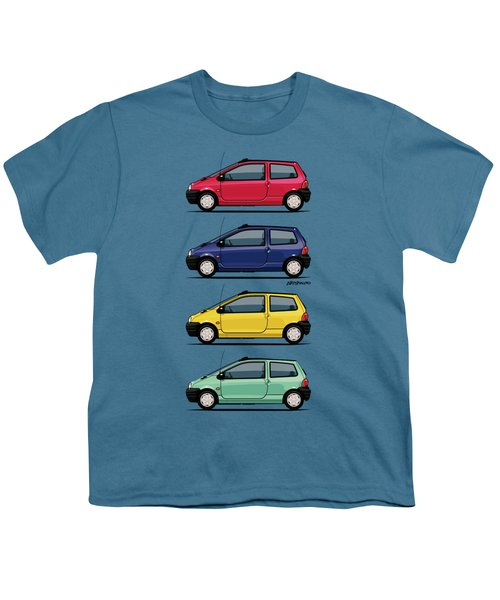 Renault Twingo 90s Colors Quartet Youth T-Shirt by Monkey Crisis On Mars