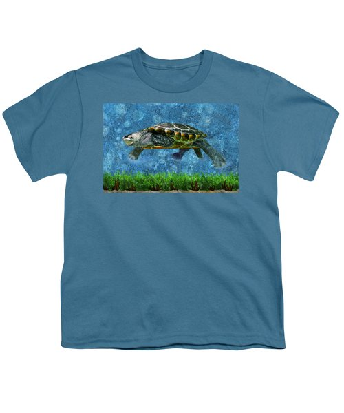 Rodney The Diamondback Terrapin Turtle Youth T-Shirt by Sandi OReilly