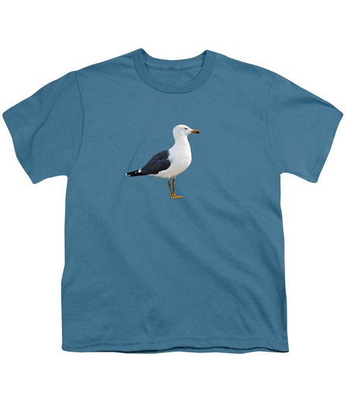 Seagull Portrait Youth T-Shirt by Sue Melvin