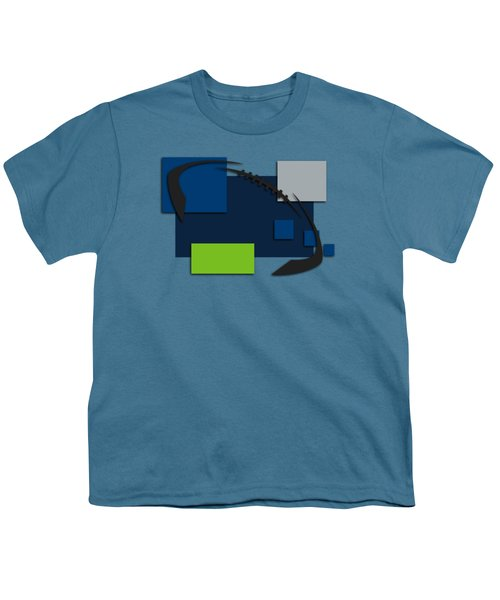 Seattle Seahawks Abstract Shirt Youth T-Shirt by Joe Hamilton