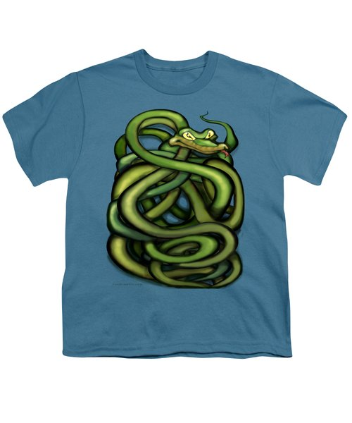 Snakes Youth T-Shirt by Kevin Middleton