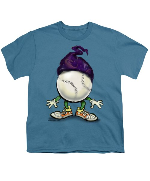Softball Wizard Youth T-Shirt by Kevin Middleton
