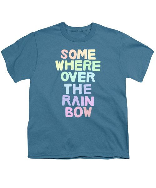 Somewhere Over The Rainbow Youth T-Shirt by Priscilla Wolfe