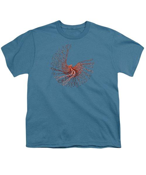 Spirit In Flight Transparent Youth T-Shirt by Wendy Rickwalt