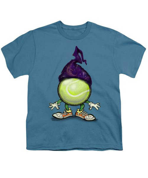 Tennis Wiz Youth T-Shirt by Kevin Middleton