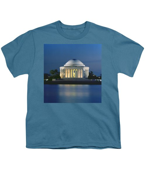 The Jefferson Memorial Youth T-Shirt by Peter Newark American Pictures