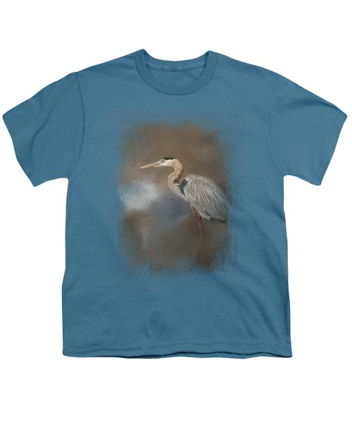Walking Into Blue Youth T-Shirt by Jai Johnson