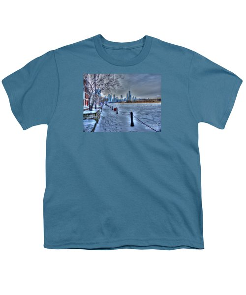 West From Navy Pier Youth T-Shirt by David Bearden