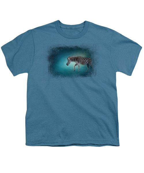 Zebra In The Moonlight Youth T-Shirt by Jai Johnson