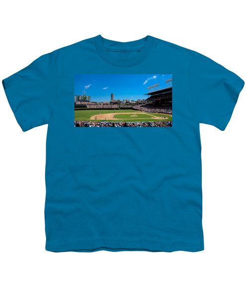 Day Game At Wrigley Field Youth T-Shirt by Anthony Doudt