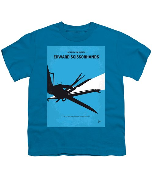 No260 My Scissorhands Minimal Movie Poster Youth T-Shirt by Chungkong Art