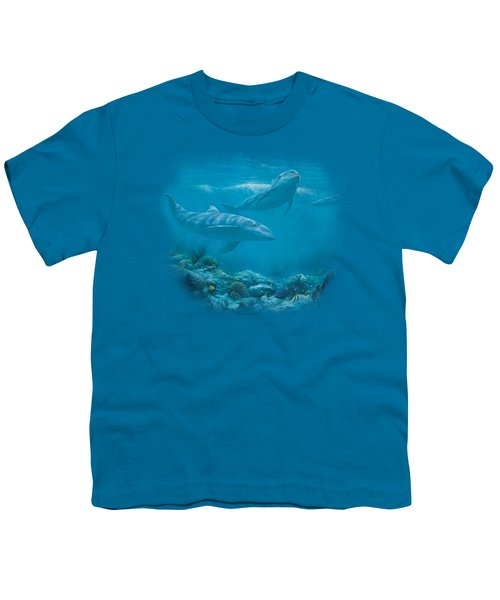 Wildlife - Bottlenosed Dolphins Youth T-Shirt by Brand A
