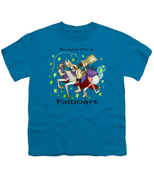 Revelation 19-11-16 Youth T-Shirt by Anthony Falbo