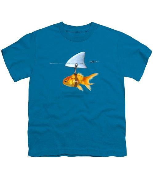 Gold Fish  Youth T-Shirt by Mark Ashkenazi
